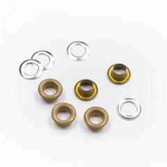 Люверсы металлические, 5мм (темно-бежевый), 40 шт. (009629)