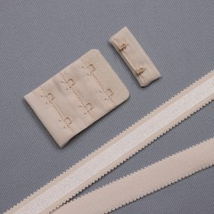 Застежка крючки и петли, 38 мм, 3 ряда, серебристый пион (009159)