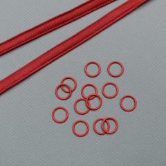 Кольцо металлическое для бюстгальтера, 11 мм, красный (ARTA-F) (009500)