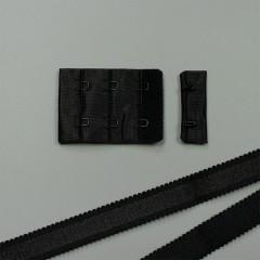 Застежка крючки и петли, 38 мм, 3 ряда, черный  (ARTA-F) (010766)