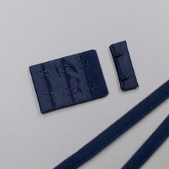 Застежка крючки и петли, 38 мм, 3 ряда, темно-синий (ARTA-F) (011097)