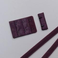 Застежка крючки и петли, 38 мм, 3 ряда, сливовое вино (ARTA-F) (011098)