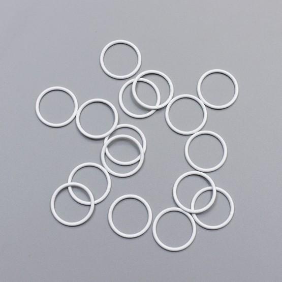 Кольцо металлическое, 18 мм, белый, ARTA-F (011871)