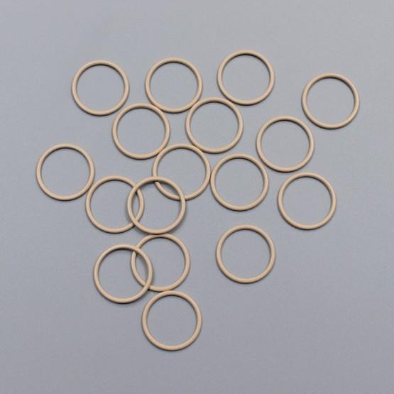 Кольцо металлическое, 18 мм, обжаренный миндаль, ARTA-F (011874)
