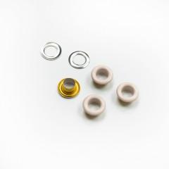 Люверсы металлические, 5мм (серебристый пион), 40 шт. (011077)