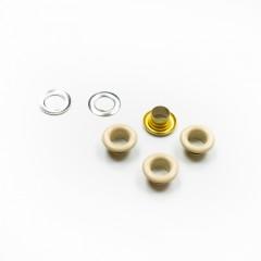 Люверсы металлические, 5мм (бежевый), 40 шт. (011078)