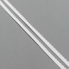 Резинка отделочная 10 мм, белый, диз. 605/10 (007788)