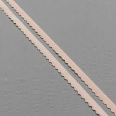 Резинка отделочная 10 мм, цв. серебристый пион, диз. 605/10 (007789)