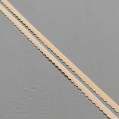 Резинка отделочная 10 мм, цв. бежевый, диз. 605/10 (007795)