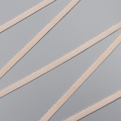 Резинка отделочная 10 мм, серебристый пион, диз. 641/10 (009906)