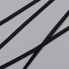 Резинка для бретелей лапша 4 мм, черный, 2510, M.Letizia (011420)