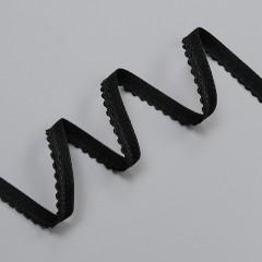 Резинка декоративная 9 мм, черный, 2735, M.Letizia (011422)