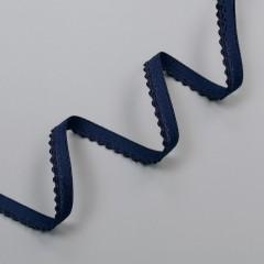 Резинка декоративная 9 мм, темно-синий, 2735, M.Letizia (011423)