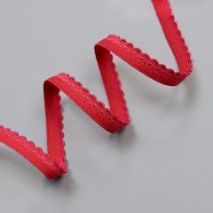 Резинка декоративная 9 мм, красный, 2735, M.Letizia (011426)