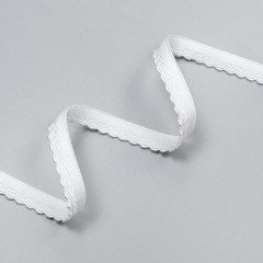 Резинка декоративная 9 мм, белый, 2735, M.Letizia (011427)