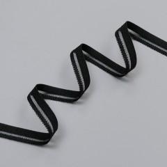 Резинка декоративная фигурная 11 мм, черный, 8038, M.Letizia (011429)