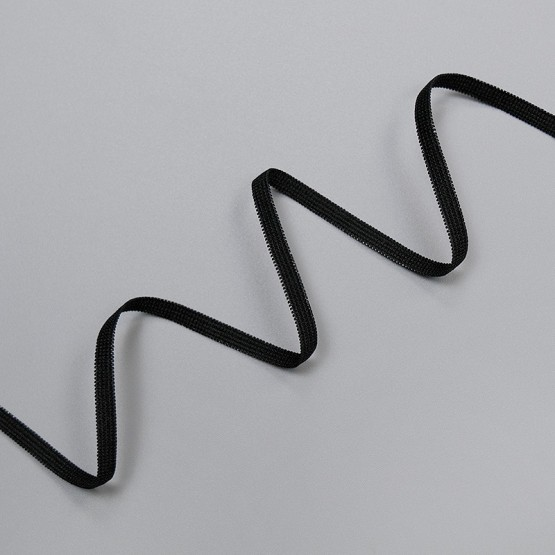 Резинка бельевая 4 мм, черный, 8129, M.Letizia (011430)