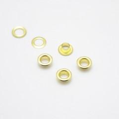 Люверсы металлические, 5мм (золотые), 40 шт. (008508)