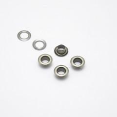 Люверсы металлические, 5мм (темный никель), 40 шт. (008511)