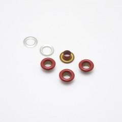 Люверсы металлические, 5мм (красные), 40 шт. (008515)