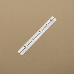 Бюск стальной 24 см, 5 шипов, белый (Wissner) (007303)