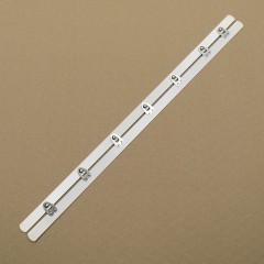 Бюск стальной 40 см, 7 шипов, белый (Wissner) (007309)