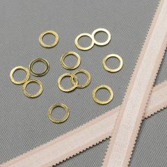 Кольцо металлическое для бюстгальтера, золото, 10 мм (6 C/10) (007819)