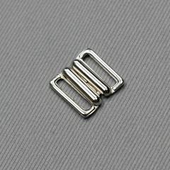 Застежка для бюстгальтера, серебро, 15 мм (3001 DG/15) (007822)