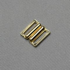Застежка для бюстгальтера, золото, 15 мм (3001 DG/15) (007823)