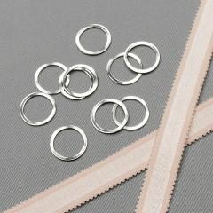 Кольцо металлическое для бюстгальтера, никель, 16 мм (6/16) (007845)