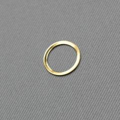 Кольцо металлическое для бюстгальтера, золото, 16 мм (6/16) (007846)