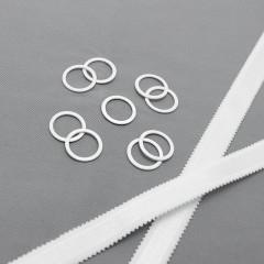 Кольцо металлическое для бюстгальтера, белый, 16 мм (6 NC/16) (008701)