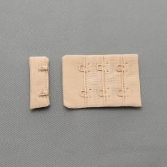 Застежка крючки и петли, 38х54 мм, 3 ряда, телесный (008710)