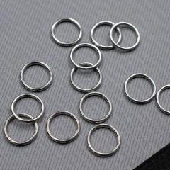 Кольцо металлическое для бюстгальтера, серебро, 10 мм (6 DG/10) (009801)