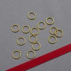 Кольцо металлическое для бюстгальтера, золото, 10 мм (6 DG/10) (009803)