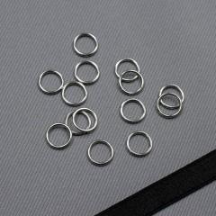Кольцо металлическое для бюстгальтера, серебро, 8 мм (6 DG/8) (009807)