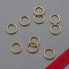 Кольцо металлическое для бюстгальтера, золото, 8 мм (6 DG/8) (009809)